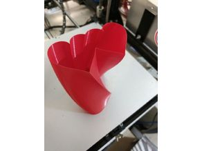 Double Heart Twisted Vase
