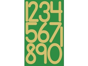 Sand paper numbers Montessori tactile american style for laser cut