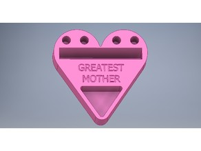 Mother's Day Heart-Shaped Business Card/Phone Holder