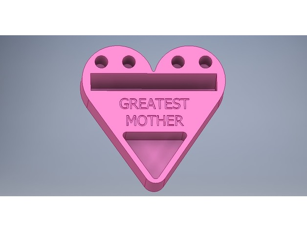 Mothers day heart shaped business cardphone holder by kuriger9 thingiview colourmoves
