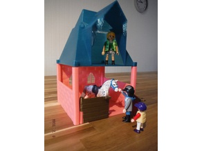 Modular playmobil sized stable