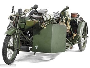WWI - WW2 BEF Motorcycle with sidecar