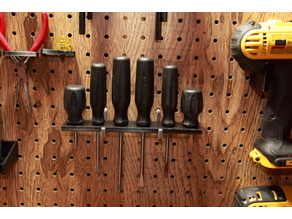 pegboard holder for the Pittsburgh 6 piece screwdriver set