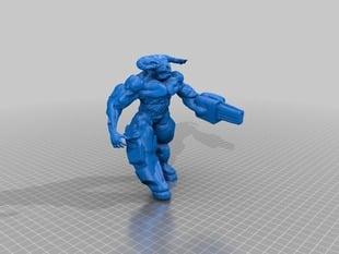 DooM Cyberdemon sculpt