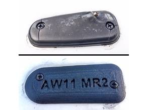 AW11 MR2 antenna delete plate