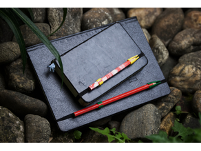 pencil clip & protector for notebook with band closure
