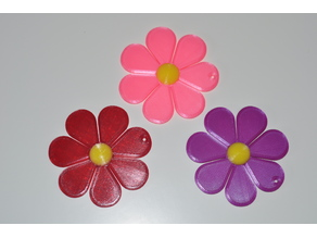 Daisy / Flower Stylized Ornament - Easy 2 Color - Designed by a five year old!