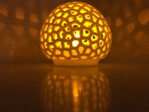 Voronoi LED mushroom cap tealight shade