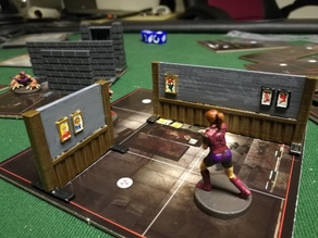 Walls for Resident Evil 2 - Board game
