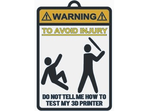 Warning Sign 3D Printer Test (Bat Version)