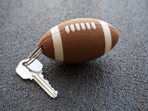 Multi-Color Textured Football Keychain