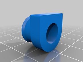 Pneumatic fitting holder for titan extruder