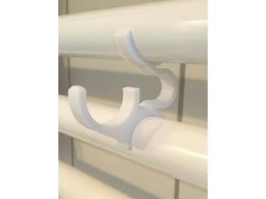 Bathroom radiator spring loaded Kermi towel heater hooks V.2 - 22.5mm