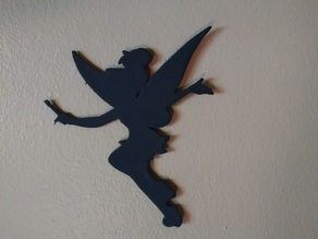 Tinker Bell Silhouette #1 - Wand