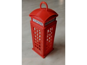 London Phone Booth Christmas Tree Ornament