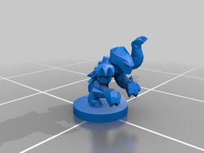 Epic Scale Tyranid Genestealer Proxy - low poly