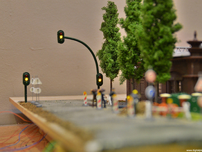 H0-scale (1:87) real working traffic lights for model railroad