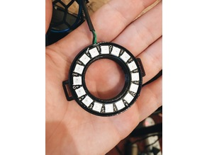 16 NeoPixel ring Holder with strap holes