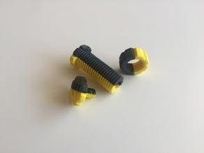 2 Color Trick Bolt Fidget (Dual Extrusion)