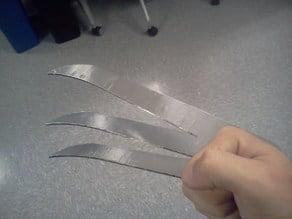 Wolverine Style Claws (Laser Cutter Design)