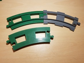 LEGO Duplo train track: curved (full size)