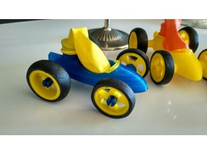 Remixed balloon toy car