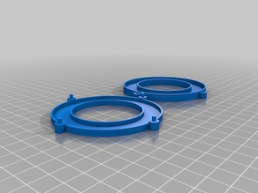 """Remix of the Adafruit """"Light Ring"""" module includes mounting hole/post bits."""