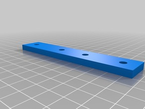 Straight support for 20X20 extruded Aluminum.
