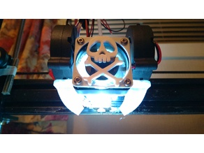 E3D fan mount 40mm/2x5015 with light