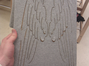 Angel wing laser cut shirt