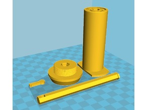 Wanhao Duplicator 6 Filament Spool Holder with printed bearings (no hardware needed)