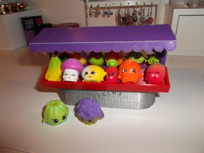 fruits and vegetables stall for Shopkins