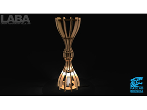 Hourglass lamp