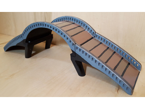 Arched Bridge - Three Piece & Flat Versions - for Desktop / Fish Tank / Aquarium / Terrarium