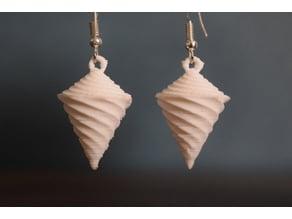 Spinning vortex earrings