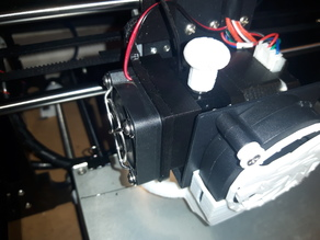 Anet A8 extruder hinged fan shroud