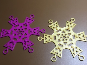 3D SnowFlake Design - Get ready for the snow.