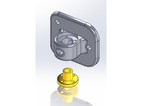 Z-Axis Holder for Flanged M8 Brass Nut -Scalar S 3D Printer Upgrade