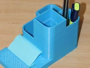 Pen Holder with Sticknote Dispenser