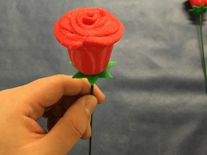 3D Printable Rose