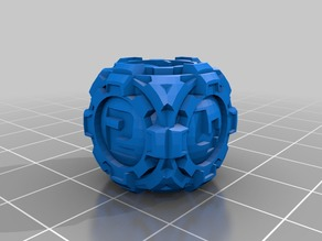 D6 Sci Fi Rounded Sphere Gears Dice - Numbers