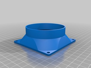 Customizable Square Fan to Pipe Adapter