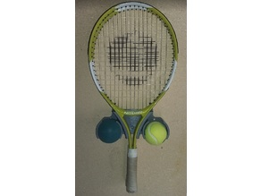 Tennis racket wall holder