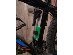 Bike pump holder