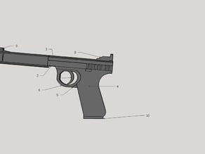 Windurger No.2 Silent Pistol 1/2 scale