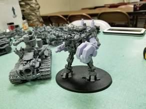Ork Warlord or Ghaz using a Dreadknight