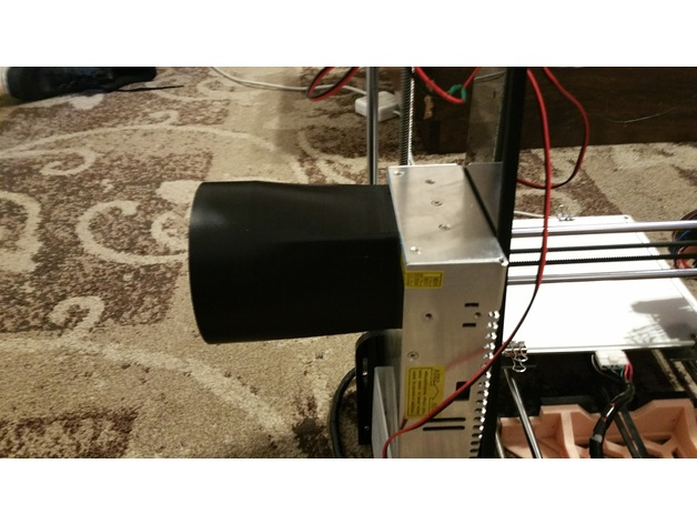 Duct Fan In An Enclosure : V a w power supply exhaust duct by drprinting d