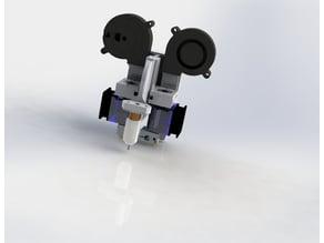 dual e3d v6 carriage for prusa/anet a8 mk2