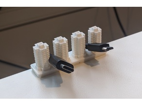 Cable holder, Hong Kong style buildings