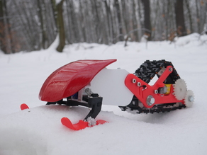 3D printed snowmobile